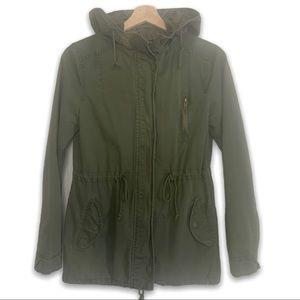 U2B Cargo Army Green Spring Coat Jacket
